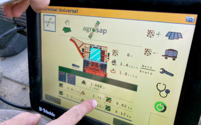 Nuevo monitor de rendimiento inteligente para tomate de industria de Agrosap